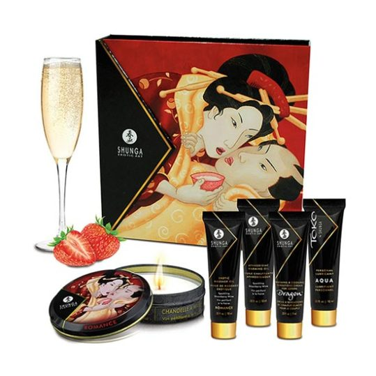 Shunga Geishas Secrets Sparkling Strawberry Wine